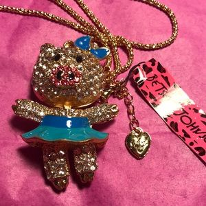 Betsey Johnson little pig necklace
